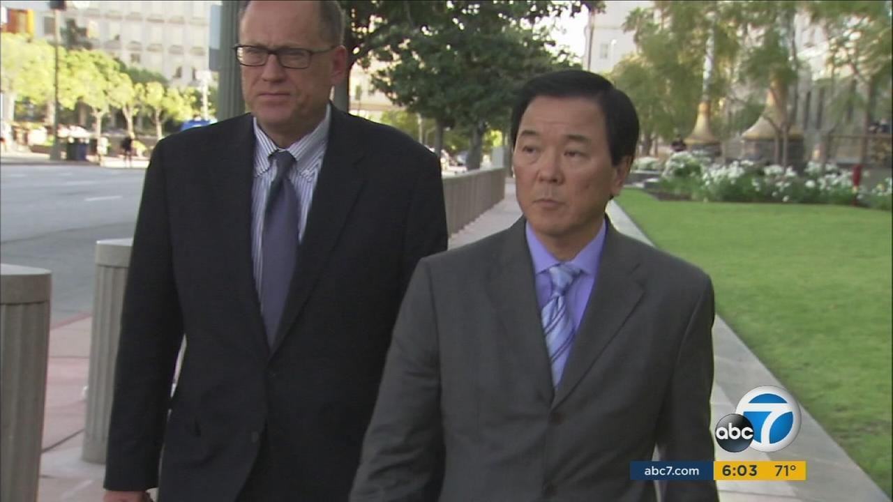 Former Los Angeles County Sheriffs Department Undersheriff Paul Tanaka (right) faces charges of conspiracy and obstruction of justice.