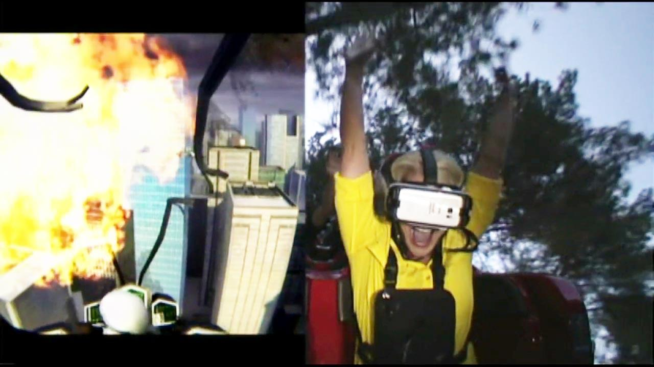 Eyewitness News reporter Chelsea Edwards took a spin on Six Flags Magic Mountains revamped New Revolution ride on Friday, March 25, 2016.