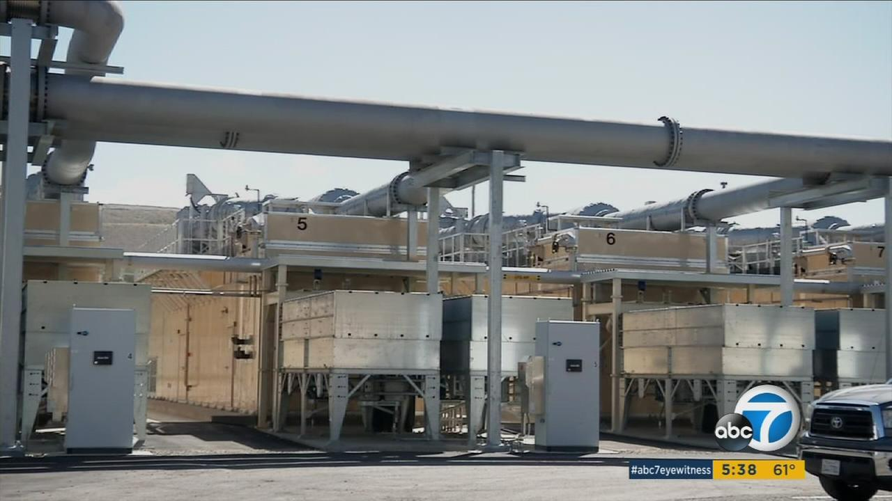A facility that turns methane gas from decomposing trash into energy is shown at the Bowerman Landfill in Irvine.