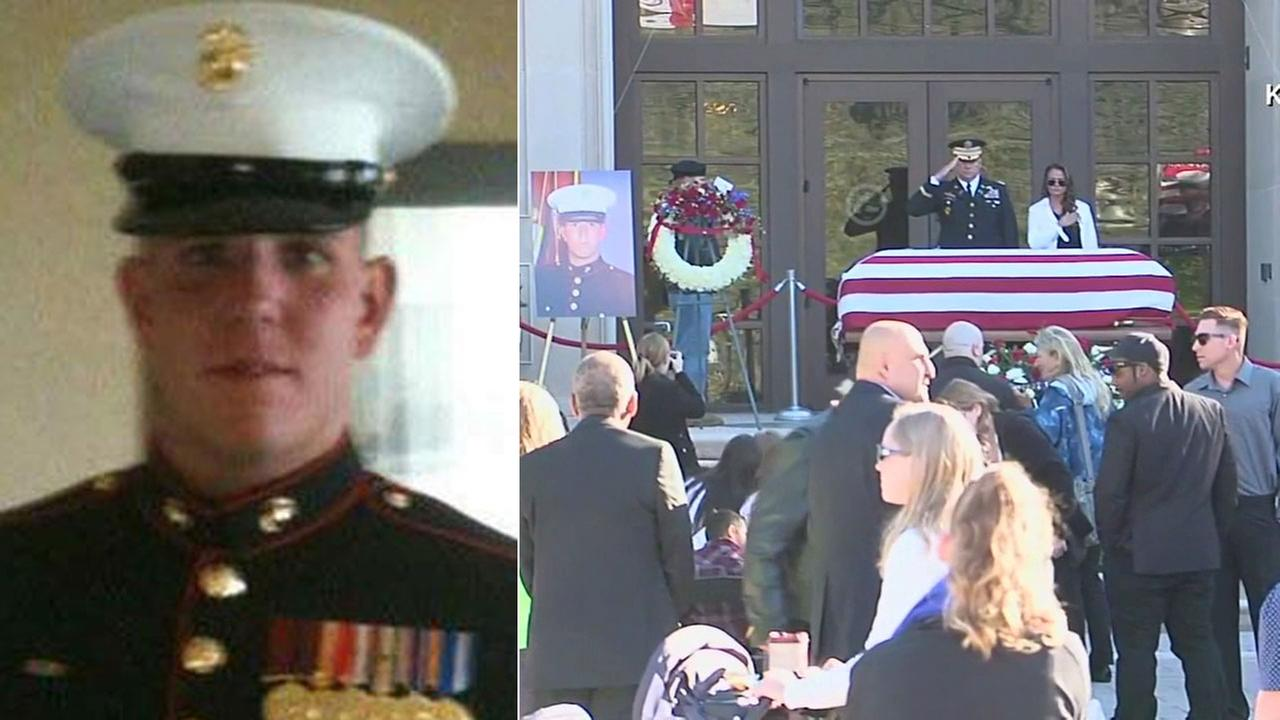 Hundreds of people saluted and honored Staff Sgt. Louis Cardin, 27, who was killed in an ISIS rocket attack in Iraq.