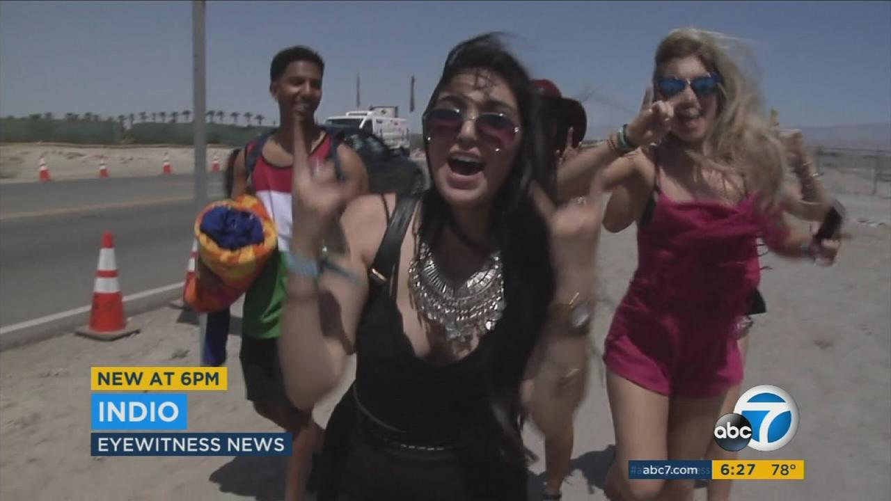 Fans came from all over the U.S. and abroad to attend the Coachella music festival.