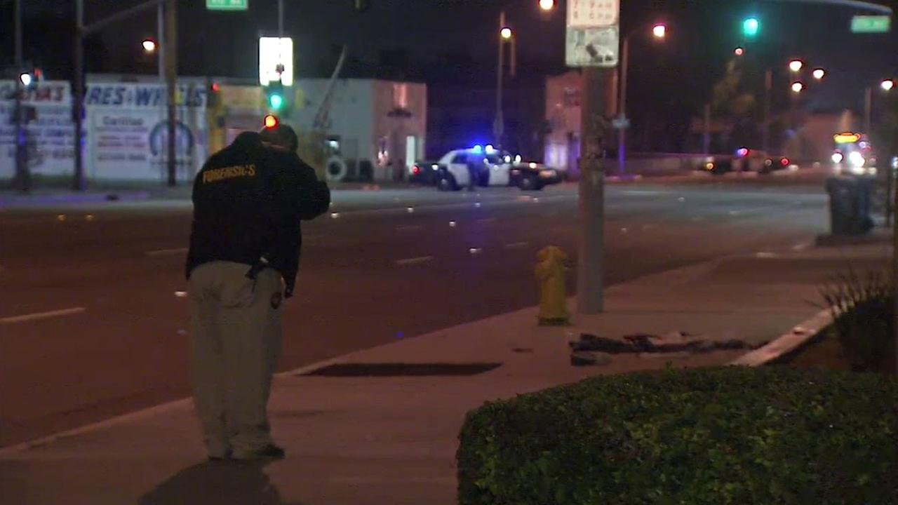Authorities investigated the scene of a deadly shooting in Florence on Wednesday, April 20, 2016.