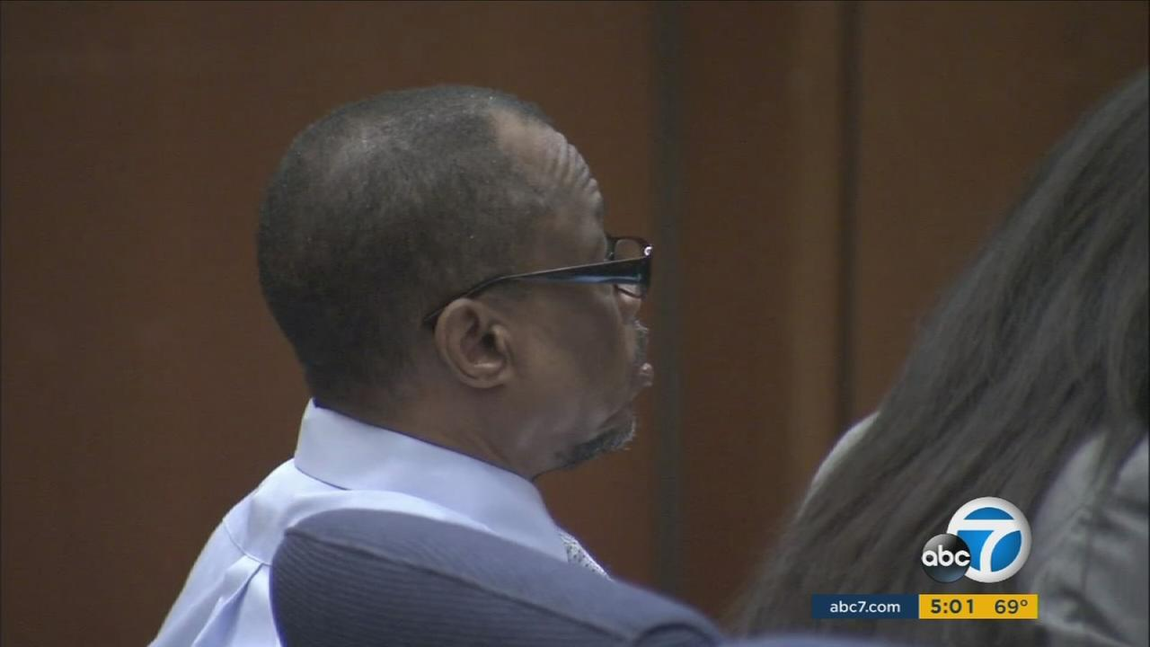 A serial killer dubbed the Grim Sleeper shows up for the closing arguments on his case Monday, May 2, 2016.