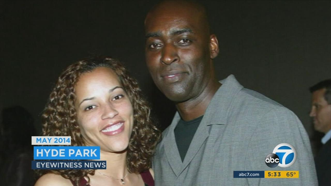 Actor Michael Jace and his late wife, April Jace, in an undated photo.