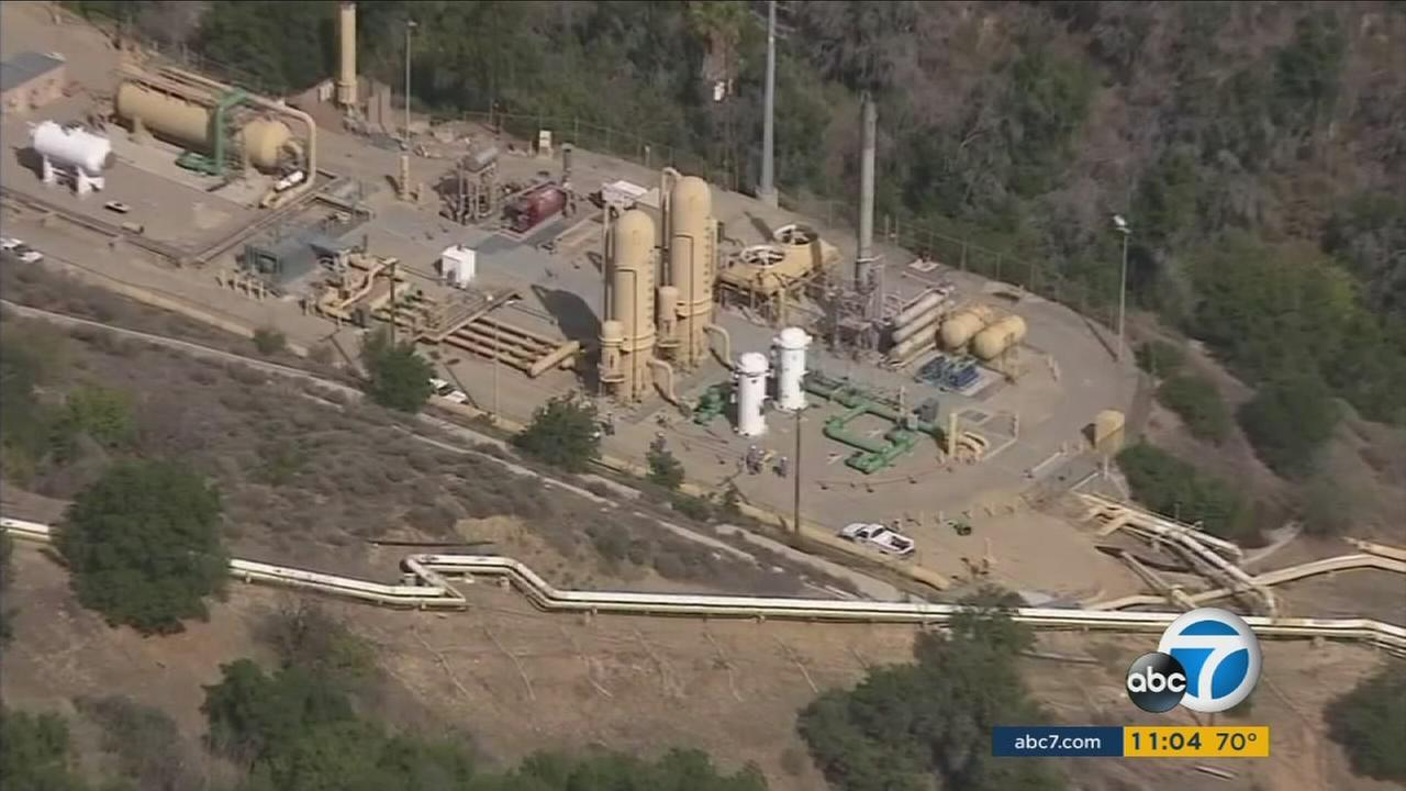 The Aliso Canyon gas storage facility in Porter Ranch is shown in an undated file photo.
