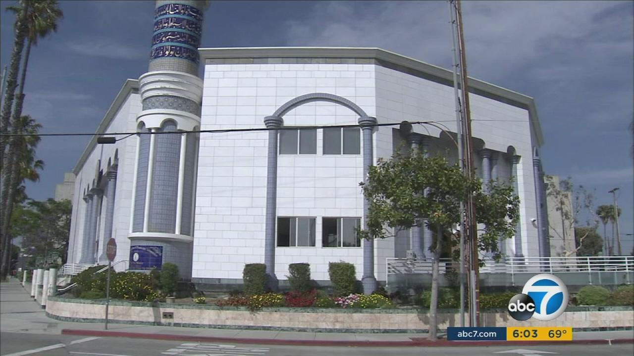 A Los Angeles-area mosque, where a worker may be linked to the 9/11 terror attacks.