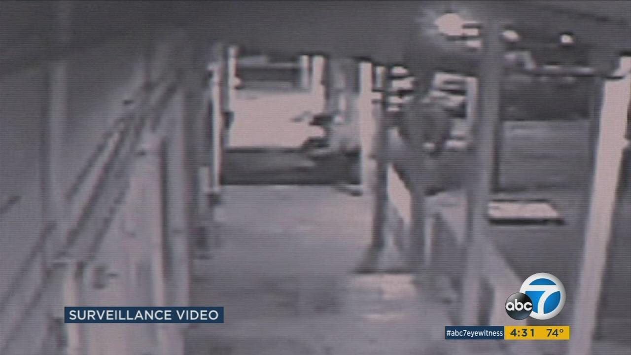 Surveillance captured a deadly confrontation between Nathaniel Pickett and a San Bernardino County Sheriffs deputy outside a Barstow motel in November of 2015.