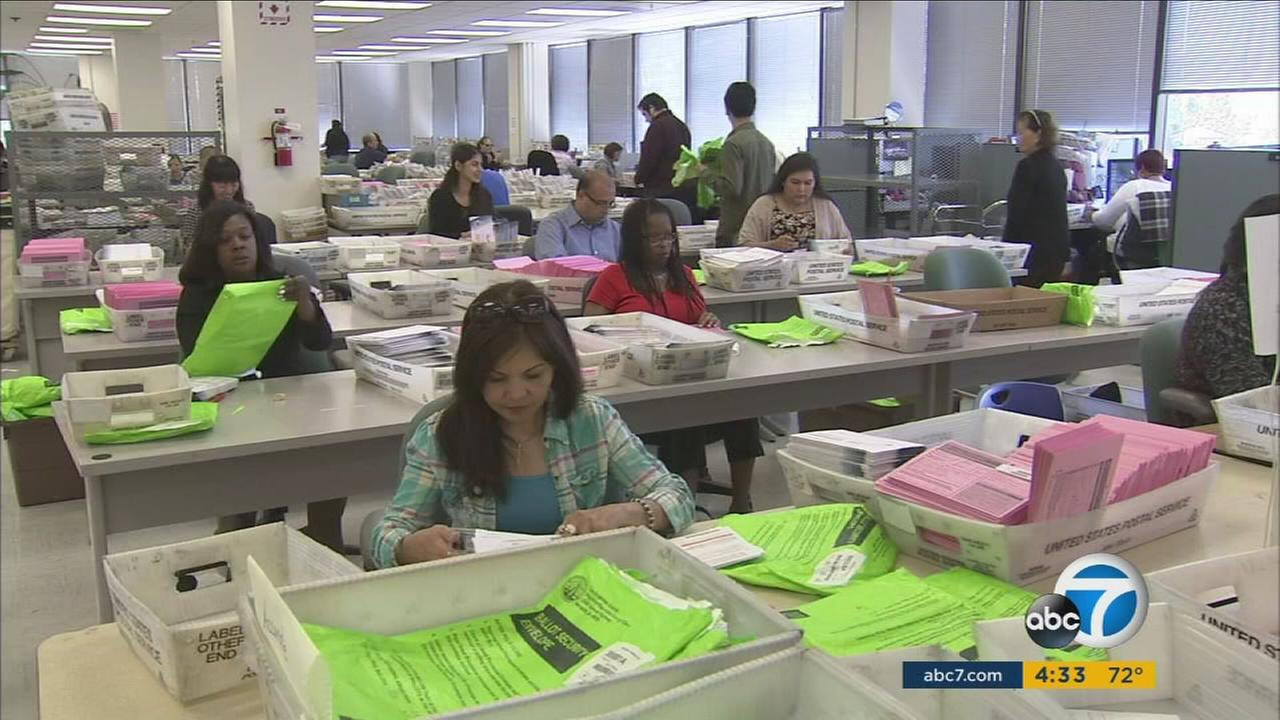 Following Californias primary, ballots continued to be tallied on Wednesday, June 8, 2016.