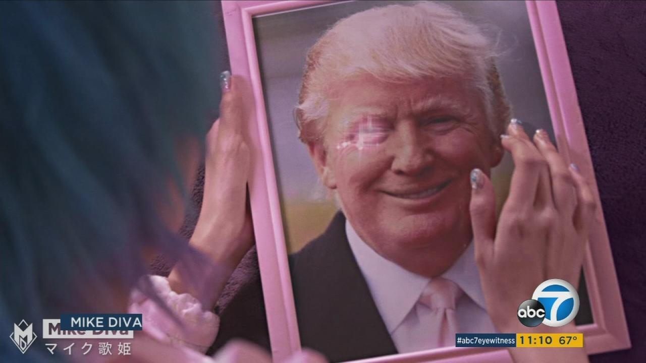 An image from a viral Donald Trump ad created by North Hollywood director Mike Diva.