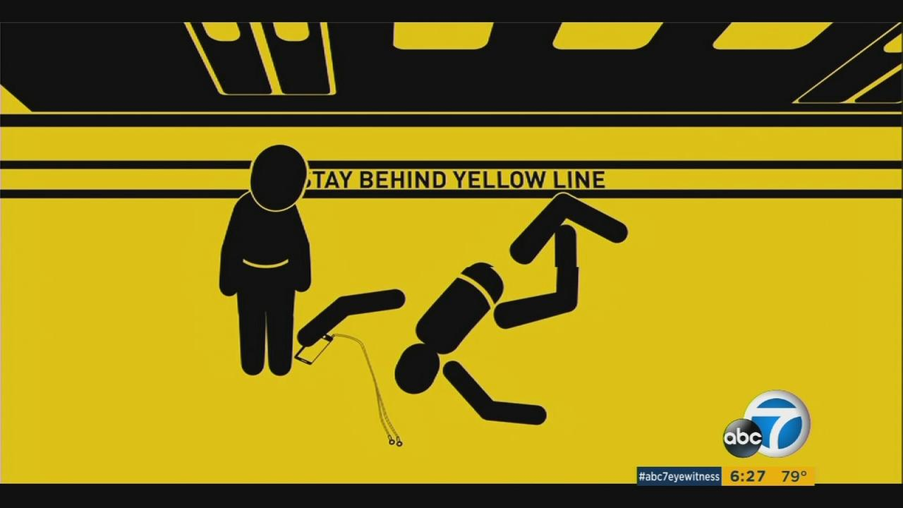 A new campaign launched by the Los Angeles County Metropolitan Transportation Authority uses cartoons to promote safety.