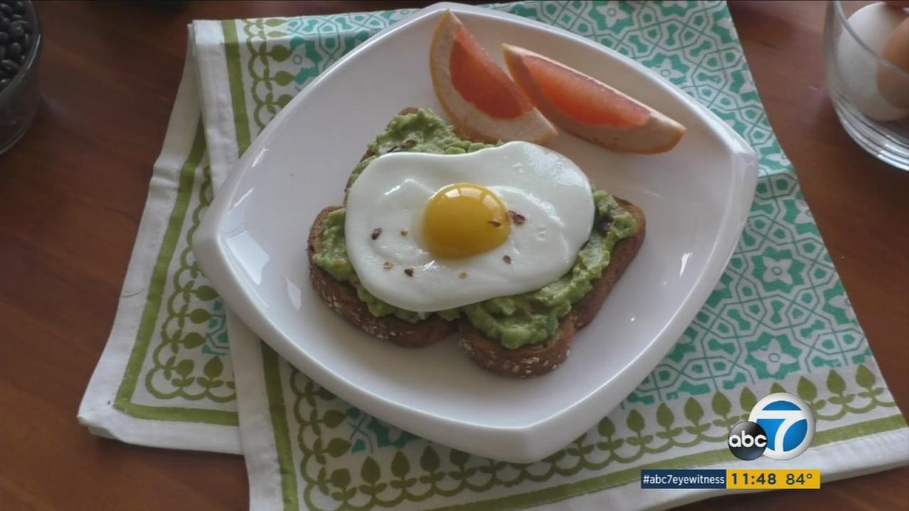 An open-faced egg sandwich is seen in this undated file photo.