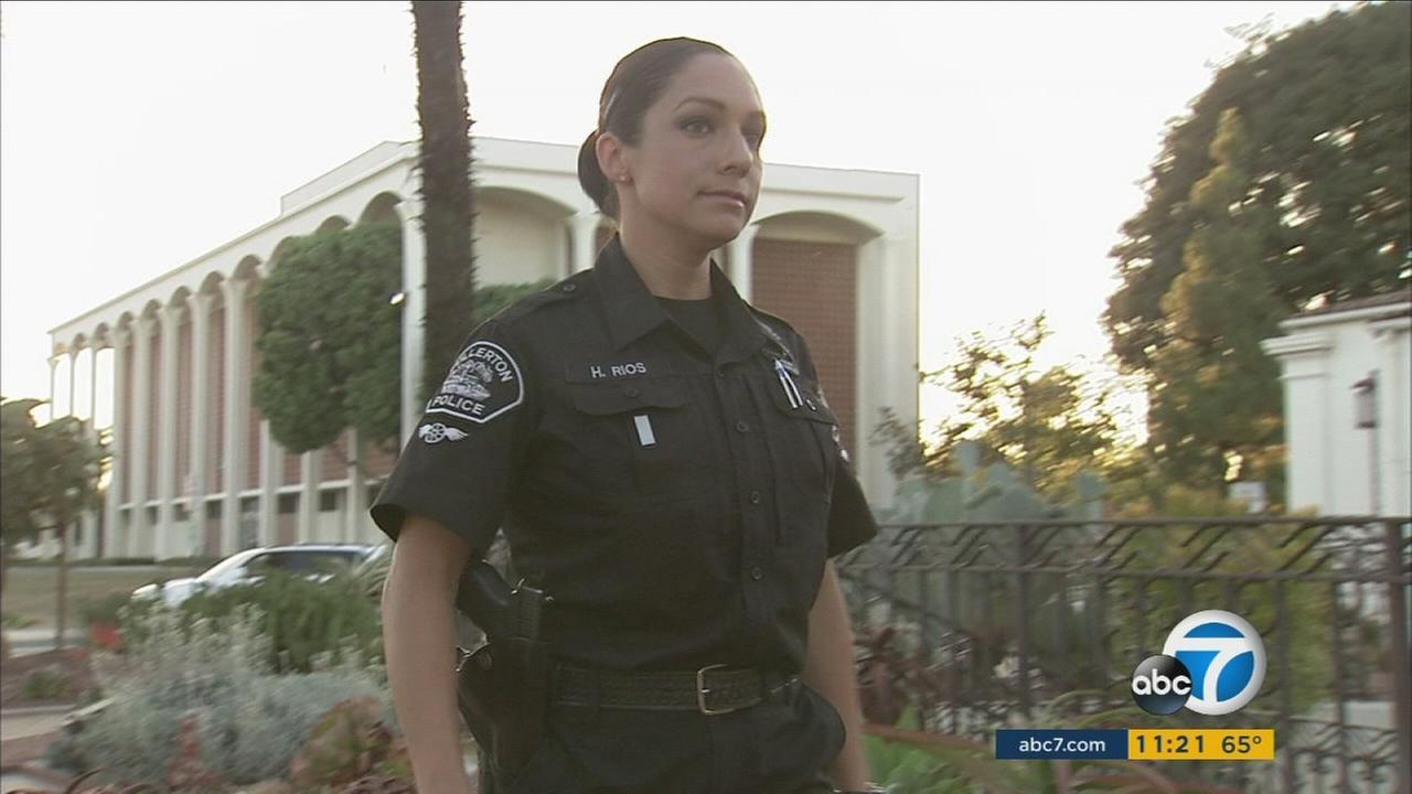 Hazel Rios, a Fullerton police officer who donated her bone marrow to a 9-year-old in South Africa, is seen in an undated photo.