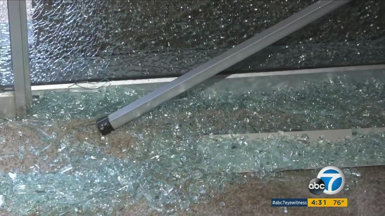 A man smashed a rock through an African-American familys window on Tuesday, July 12, 2016, and police in Huntington Beach were investigating the act as a possible hate crime.