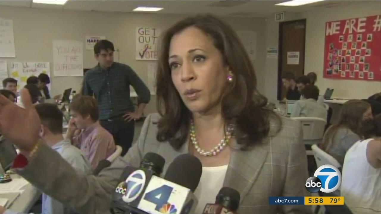President Obama and Vice President Biden formally endorsed California Attorney General Kamala Harris ahead of California Senate election in November.