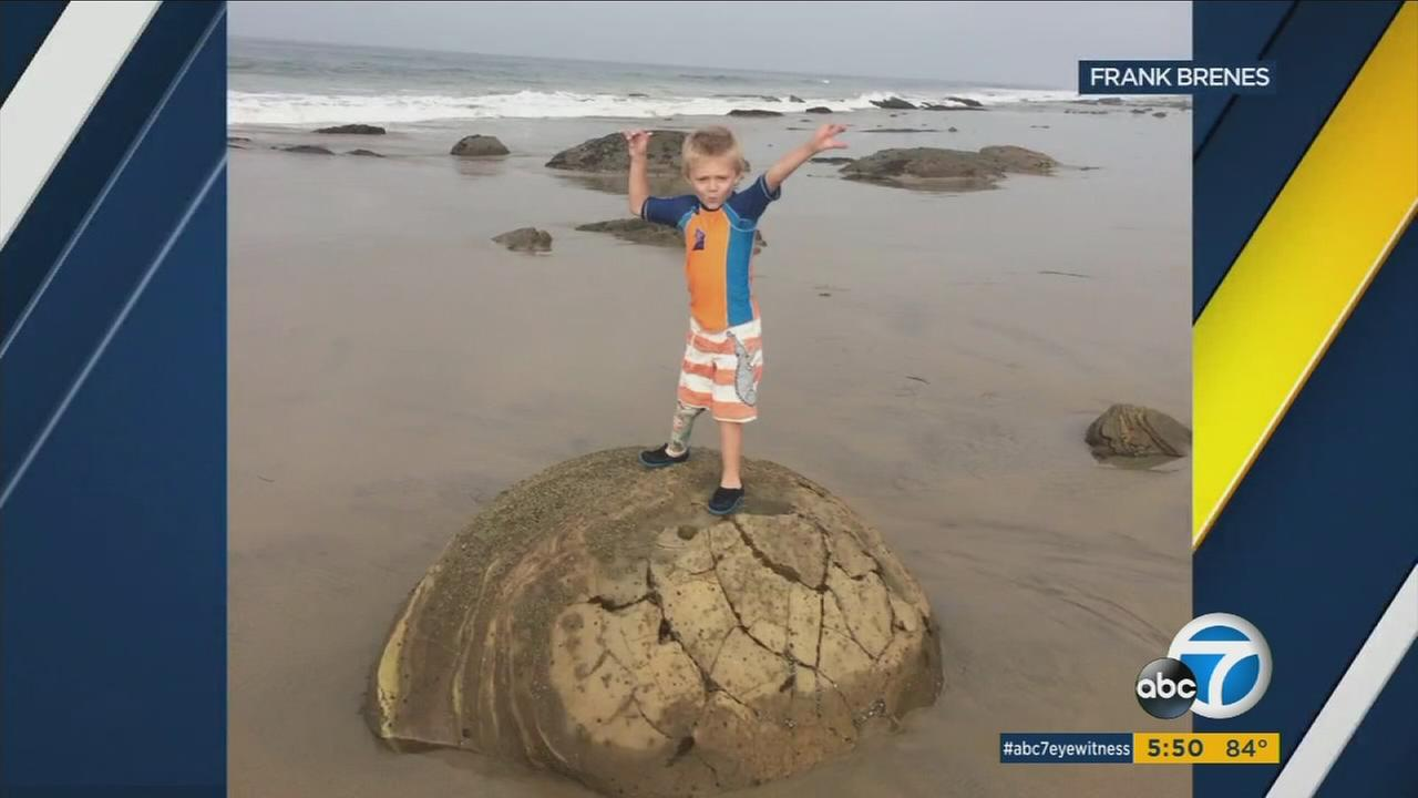 A prosthetic leg used by a 4-year-old boy was stolen when he made his first-ever trip to a beach with his family.