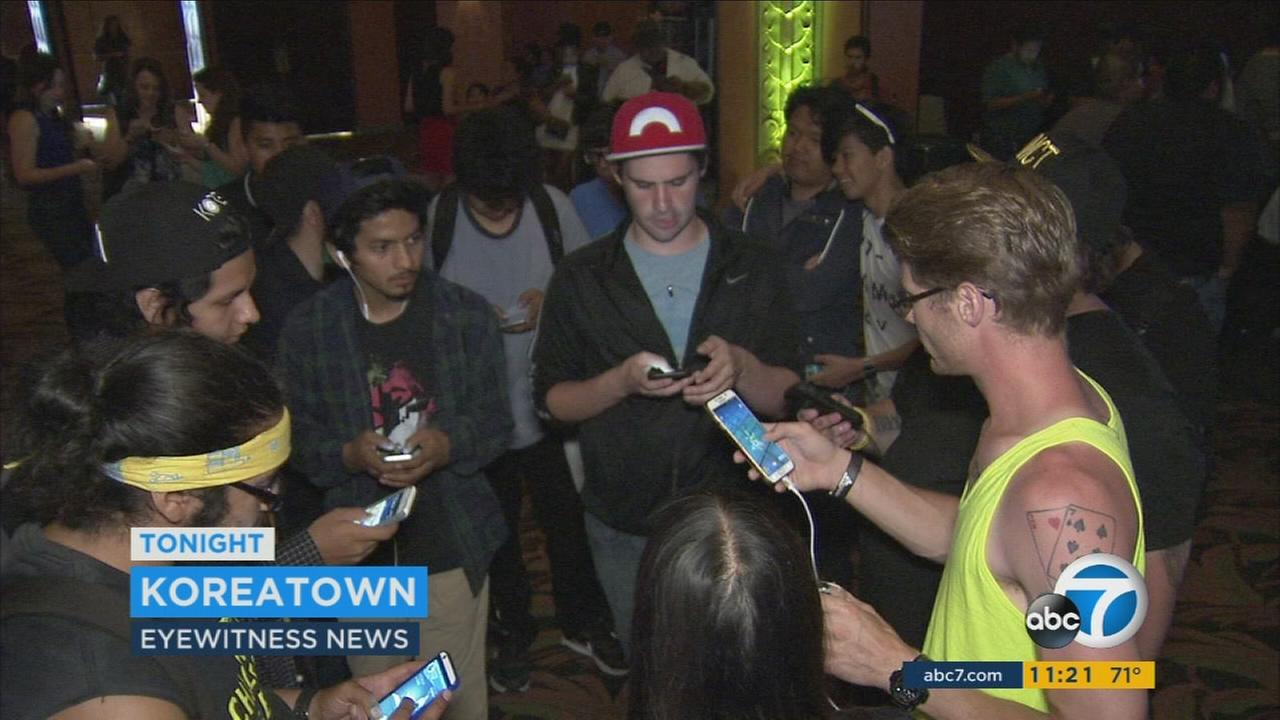 The Wiltern Theatre in Koreatown jumped on the Pokemon Go craze by hosting a meet-up Wednesday night with game-themed drinks and real-world Pokeball.