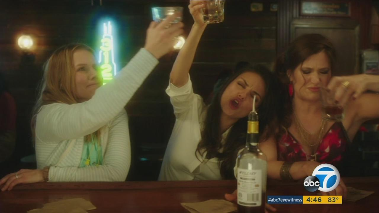 Bad Moms features Kristen Bell, Mila Kunis, and Kathryn Hahn as three women who ditch their boring domestic lives to party it up in raunchy style.