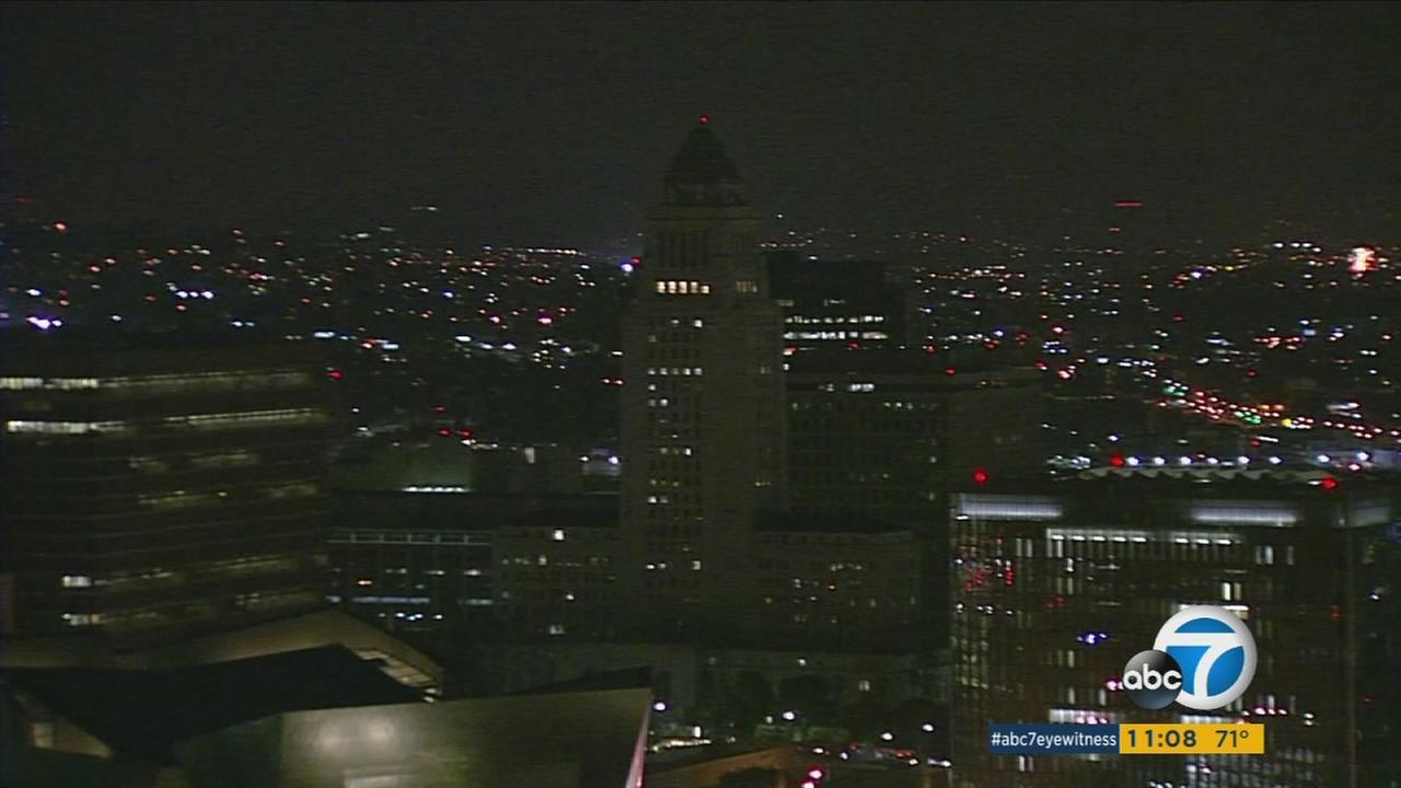 Some of Los Angeles iconic landmarks went dark Friday night as part of a new campaign to conserve energy during the summer months.