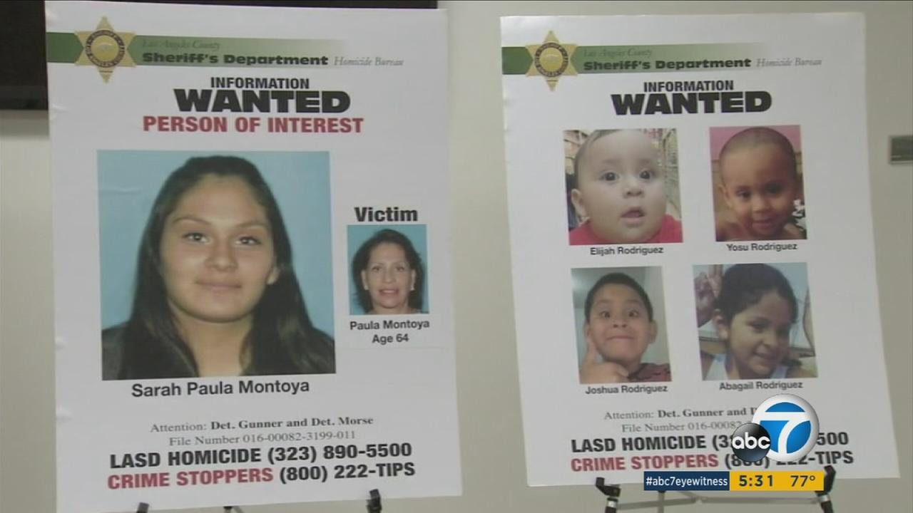 Authorities were searching for Sarah Montoya after her grandmother was found dead inside a Bell home on July 21, 2016.