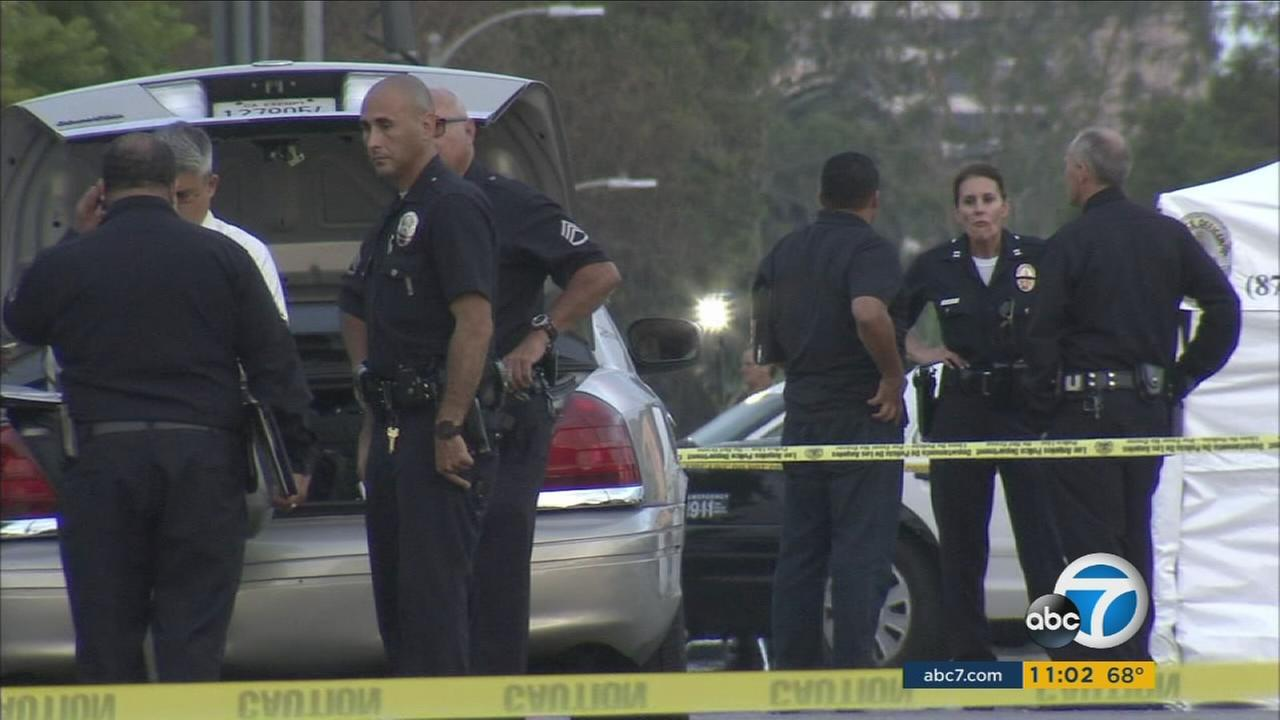 On his first day at a new job directing traffic at a construction site, a man was shot to death in Venice and the suspect remains on the loose, Los Angeles police said.