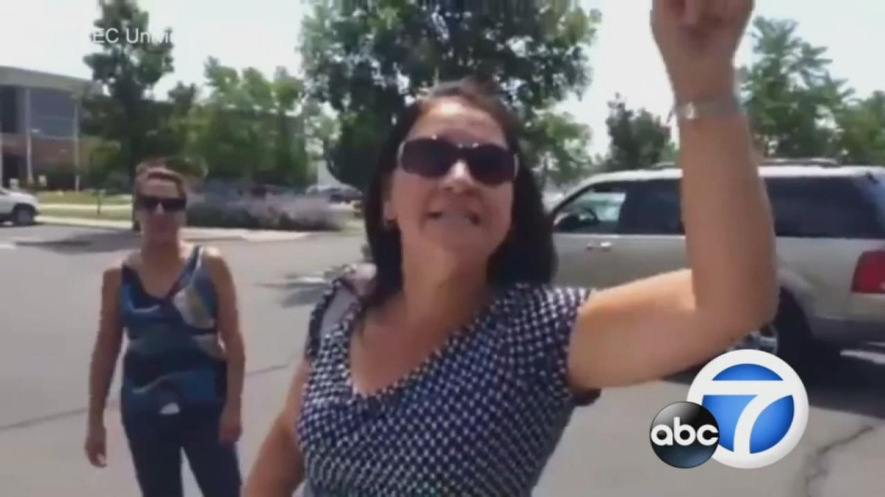 A woman was caught on camera unleashing a racist rant on a Mexican woman speaking Spanish in Grand Junction, Colo.