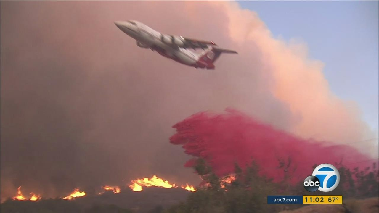The Pilot Fire scorched more than 1,500 acres and forced evacuations near the Silverwood Lake area on Sunday, Aug. 7, 2016.
