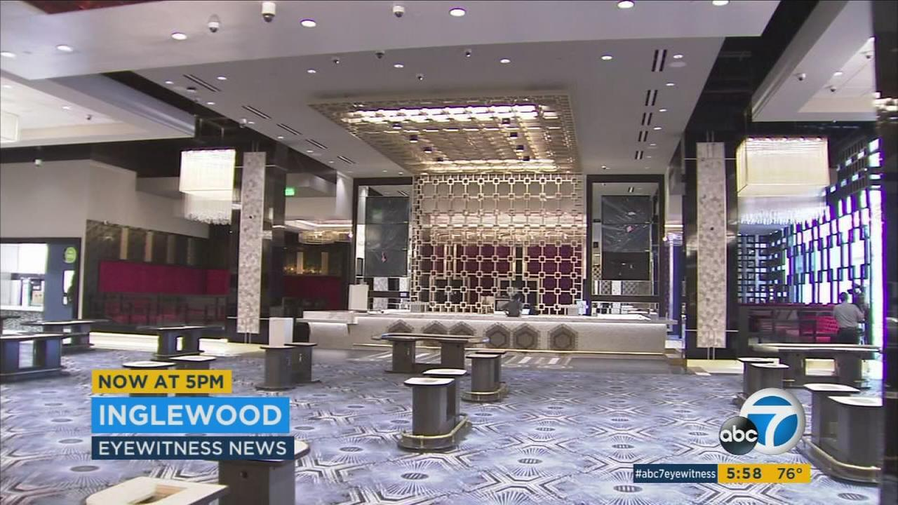 The remodeled Hollywood Park casino will feature bigger, brighter gaming areas and new restaurants - part of a $3 billion Inglewood revitalization linked to the new LA Rams stadium.