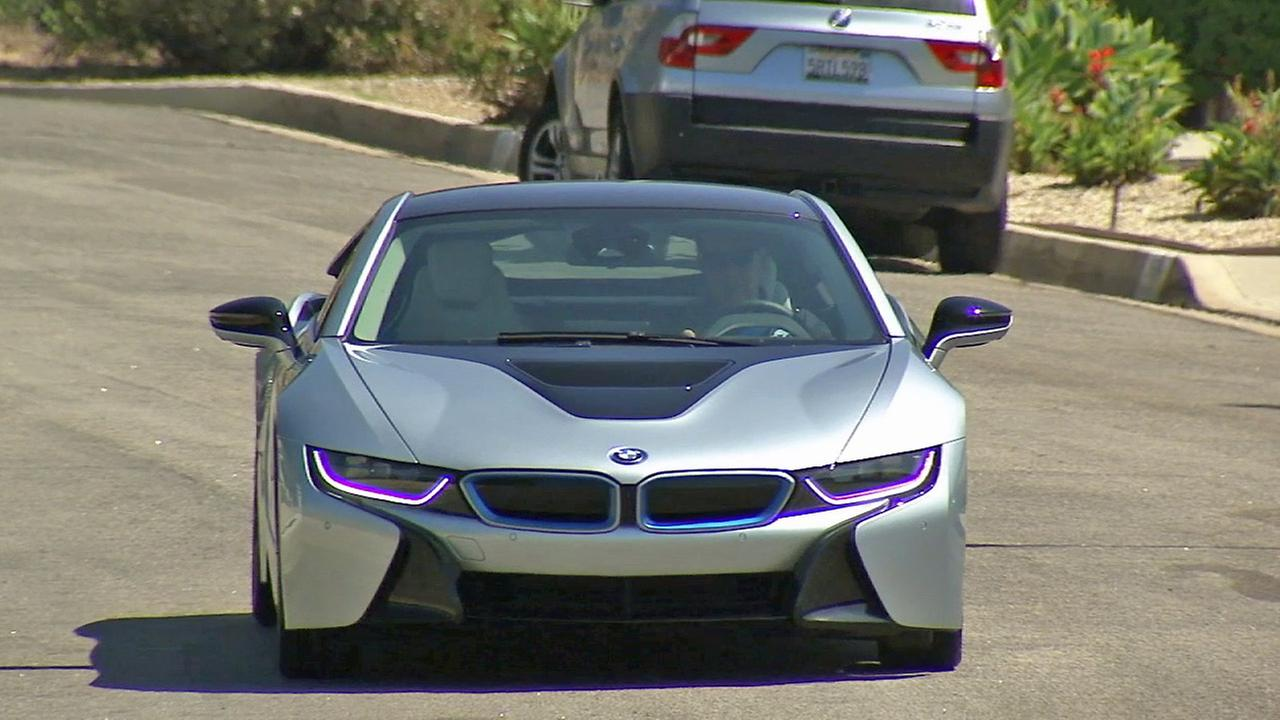 The BMW i8 is seen.