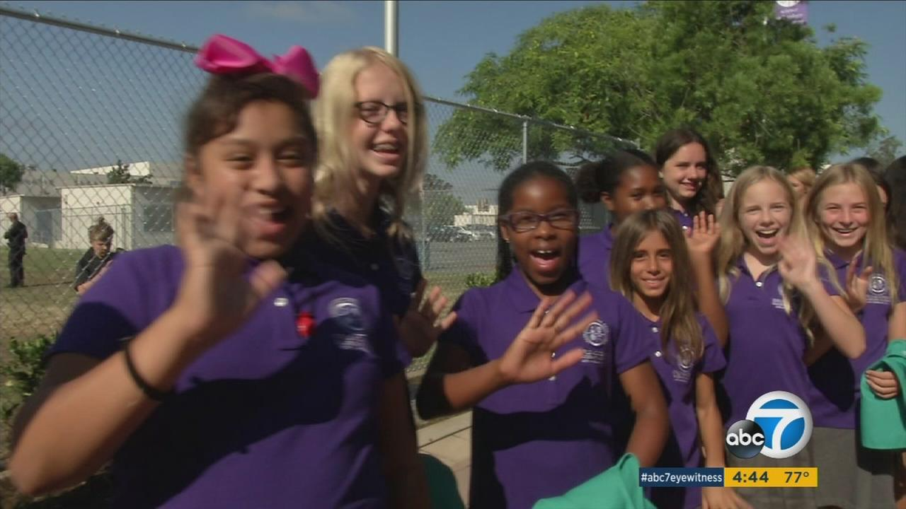 Educators, parents and students were celebrating the first all-girls public school in Los Angeles on Friday.