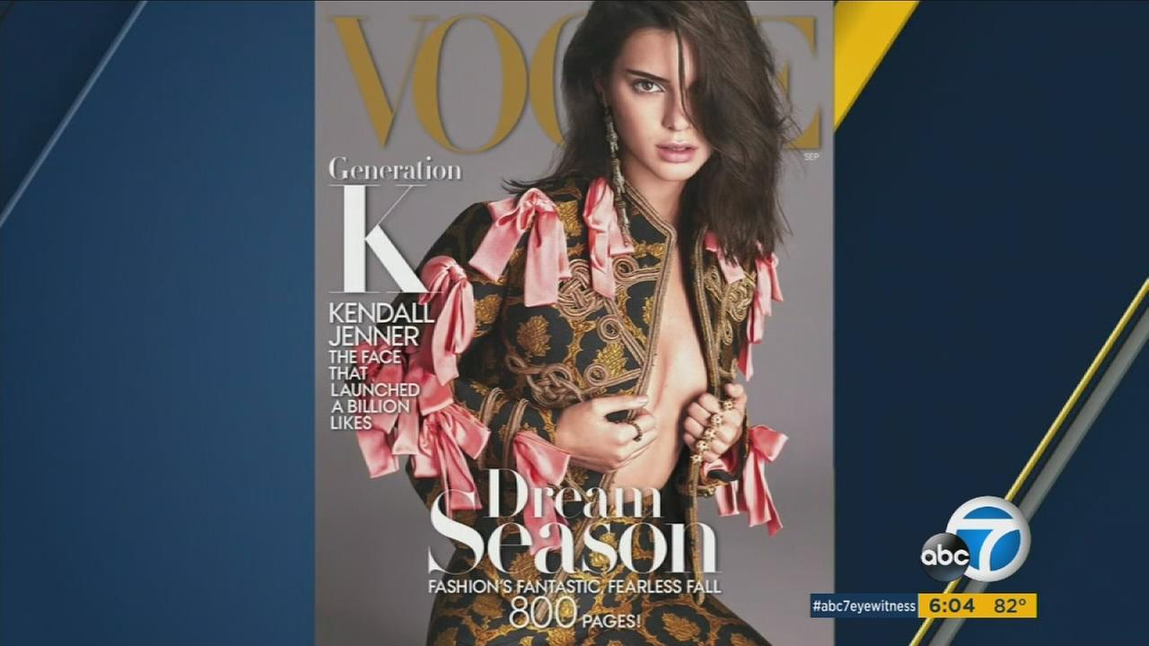 Reality star and model Kendall Jenner, who is on the cover of Vogue this month, arrived at her Hollywood Hills home Sunday night to find a stalker on her property, police said.