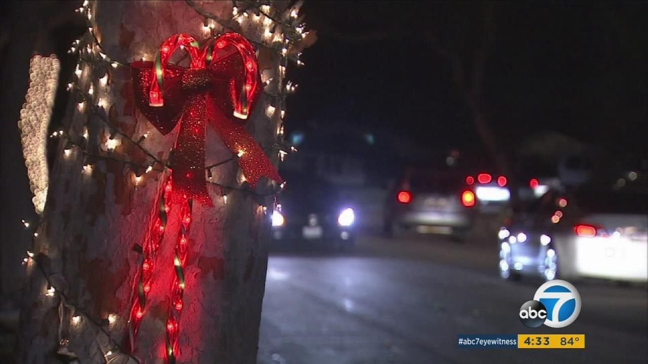 Christmas Tree Lane, a stable in Altadena holiday celebration for nearly a century, is in danger due to the California drought.