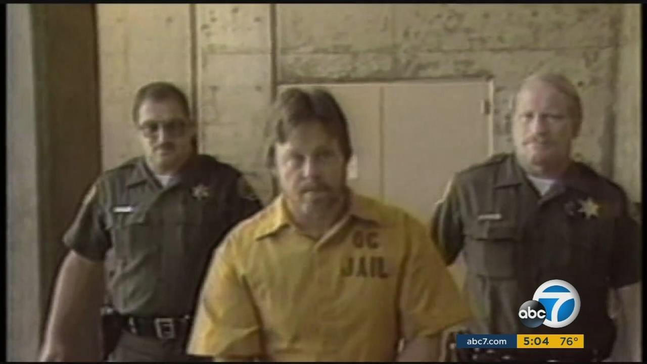 Edward Allaway, the man responsible for opening fire on people in the CSU Fullerton library 40 years ago, is shown in archival footage.