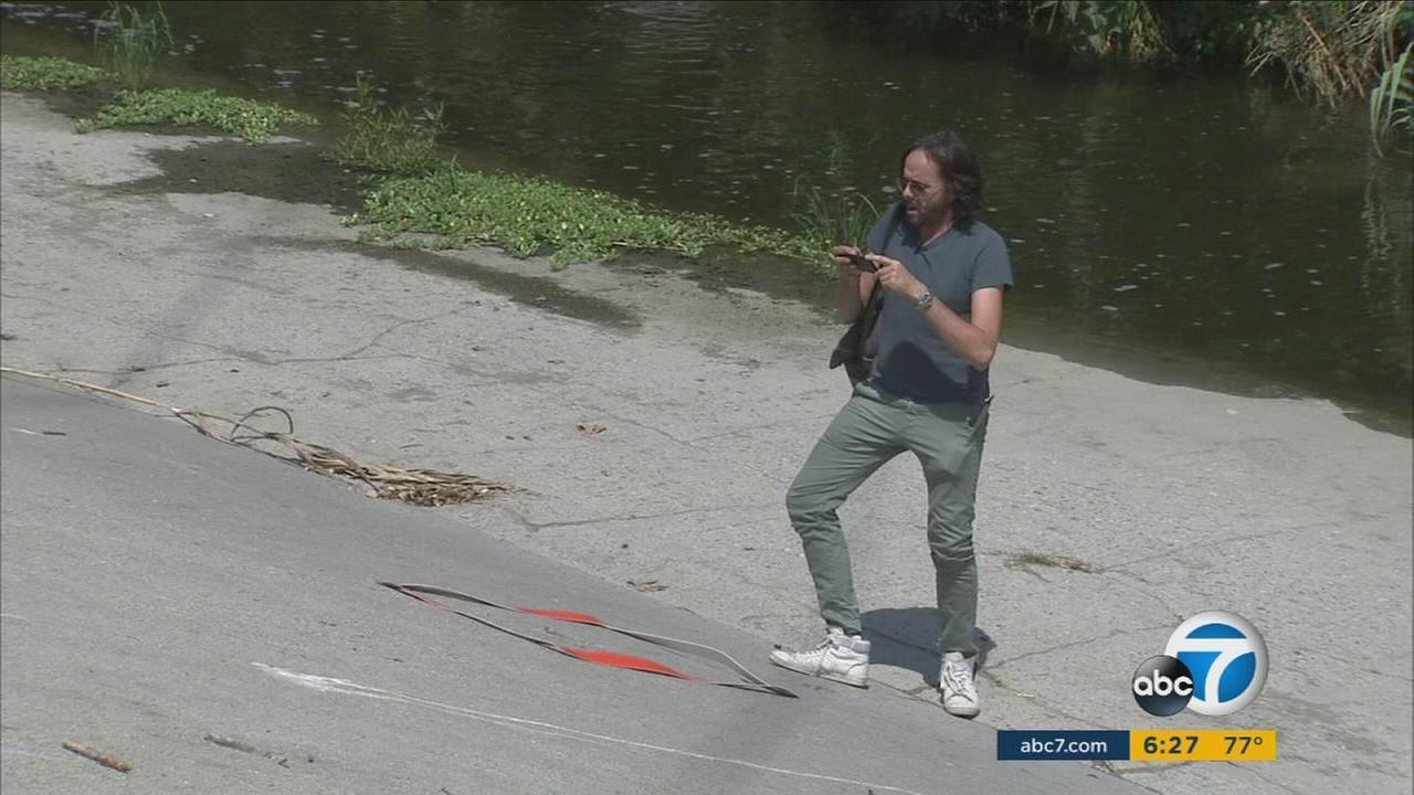 The Los Angeles River is serving as the inspiration for a project by an experimental French artist who is walking all 51 miles of its length to produce a series of ceramic pottery pieces.