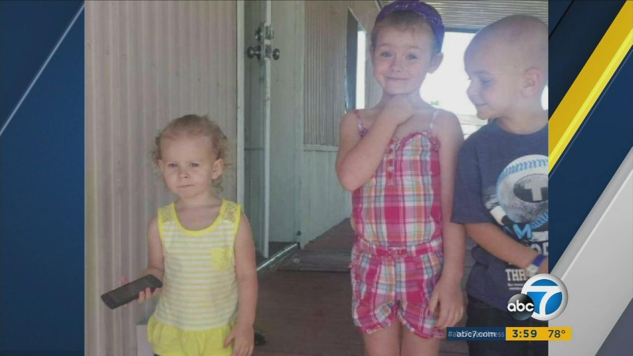 The three kidnapped children of a woman whose body was found in Gorman have been located safely at a Motel 6 outside Albuquerque, New Mexico, authorities said.