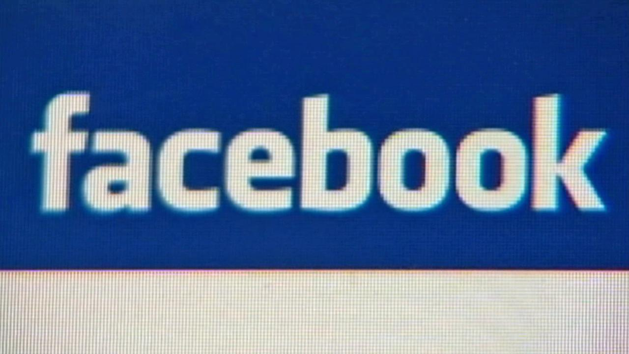 The Facebook logo is seen.