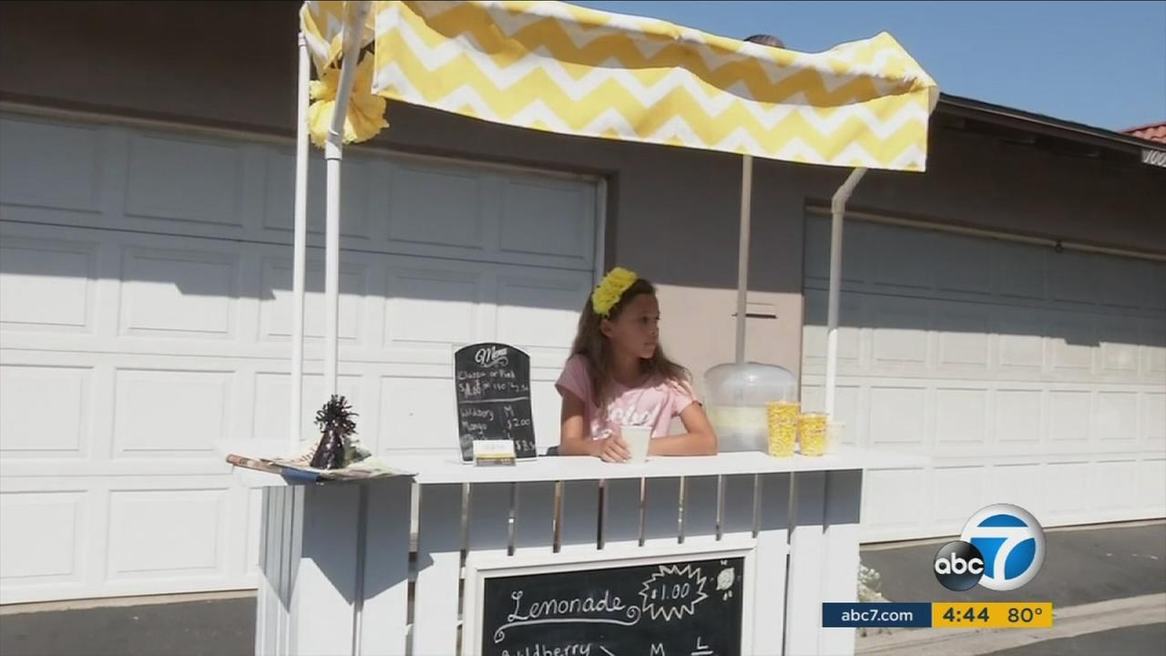 Anabelle Lockwoods summer lemonade stand was so successful in Fountain Valley, the 10-year-old is applying for permits to expand.