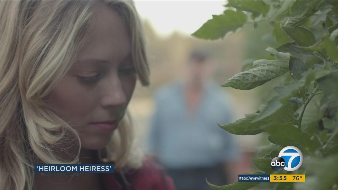 Paten Hughes took her experience of farming heirloom tomatoes and developed it into a romantic comedy called Heirloom.