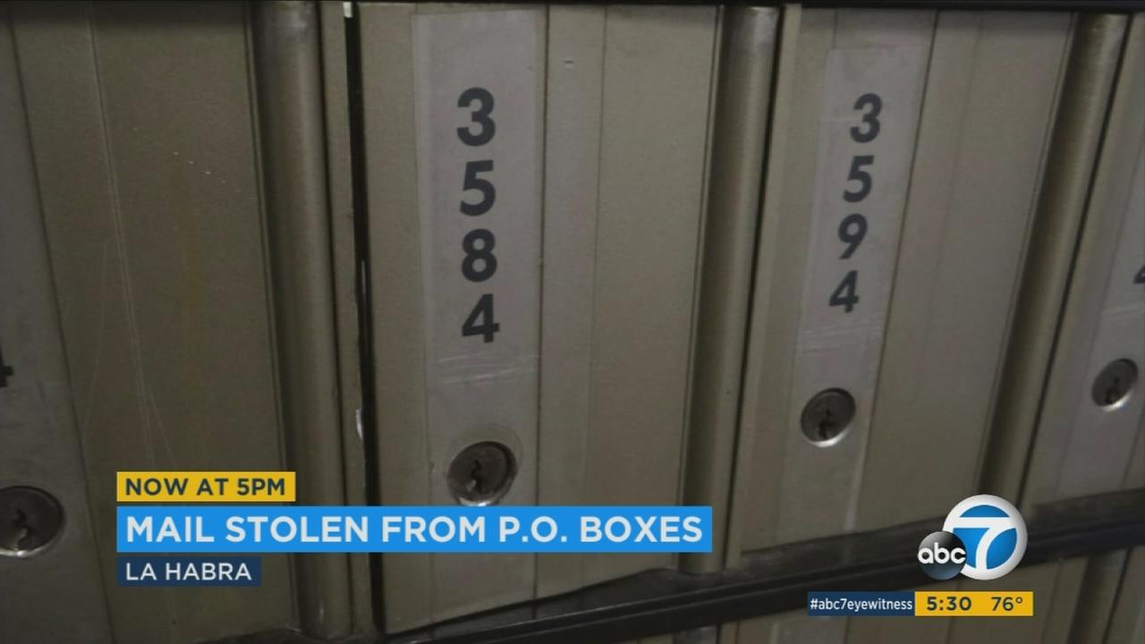 Federal authorities are looking into numerous break-ins to postal boxes at a post office in La Habra.