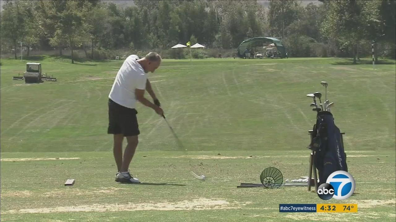 Titanium-alloy golf clubs are seen as a risk for starting fires when they strike rocks on the course, as one golfer learned recently after he sparked a 98-acre brush fire in Mission Viejo.