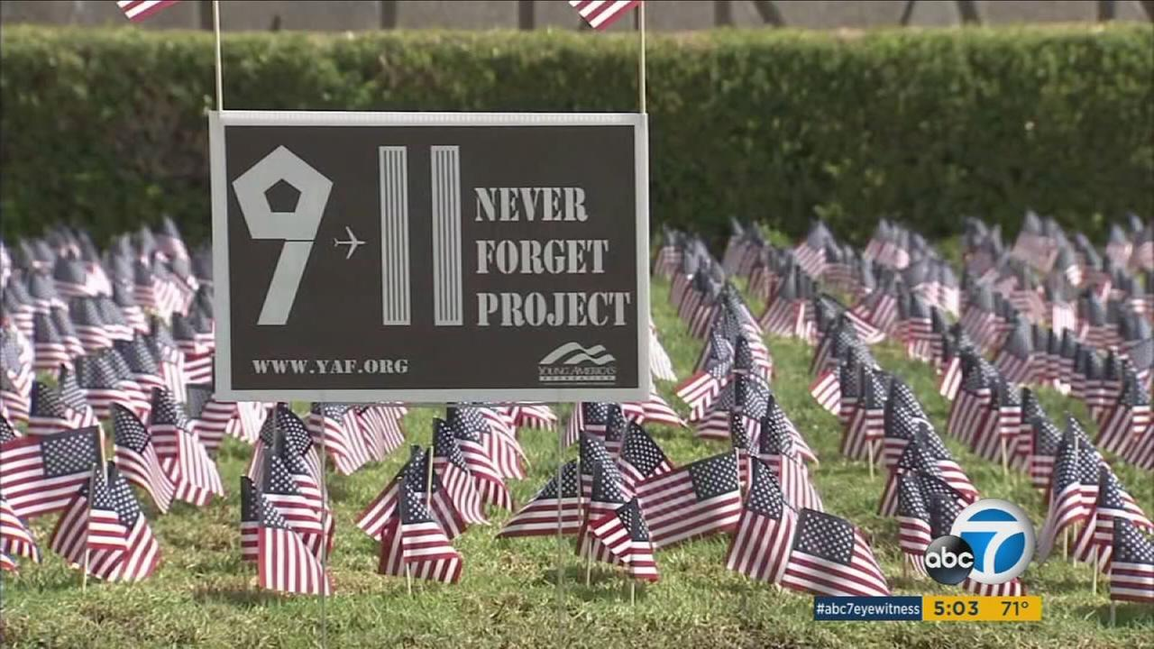 The anniversary of Sept. 11 was observed in ceremonies throughout Southern California, with moments of silence and musical tributes.