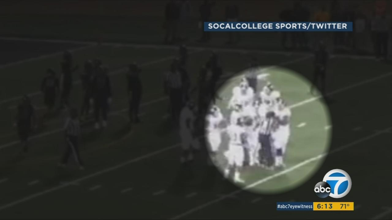 A Mt. San Antonio College football player was arrested after knocking out a referee during a game.
