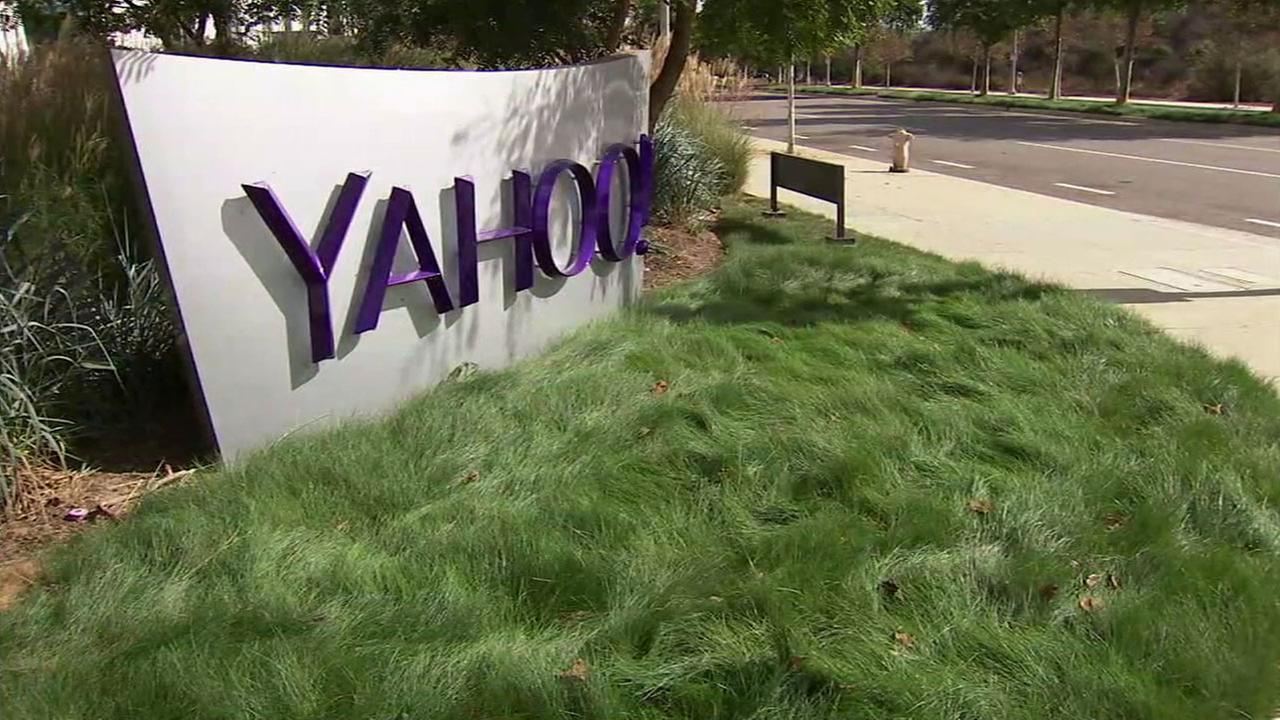 The front of the Yahoo! corporate office in Playa Vista on Thursday, Sept. 22, 2016.