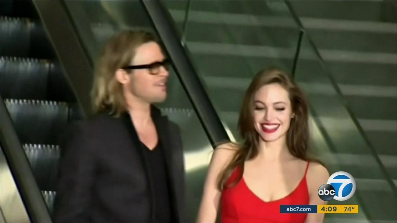 An undated photo of Angelina Jolie Pitt and Brad Pitt.