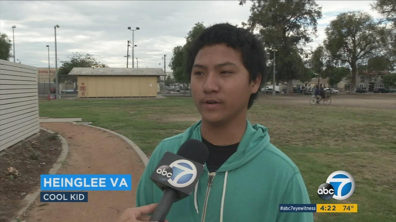 This weeks ABC7 Cool Kid is Heinglee Va, who helps to keep the ocean safe and clean.