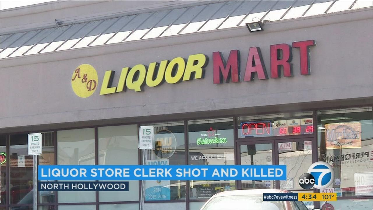 Police said a store clerk was shot and killed during a robbery at a North Hollywood liquor store over the weekend.