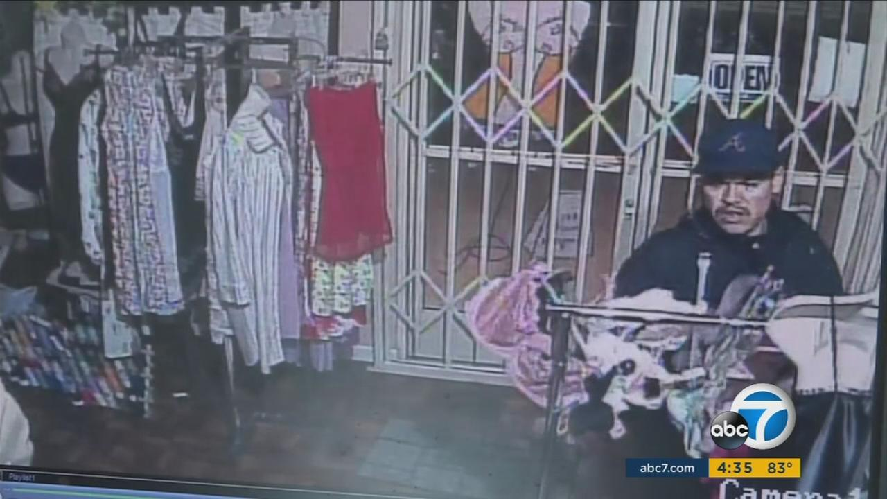A so-called panty bandit is behind bars after allegedly breaking into nearly a dozen lingerie stores in the San Fernando Valley.