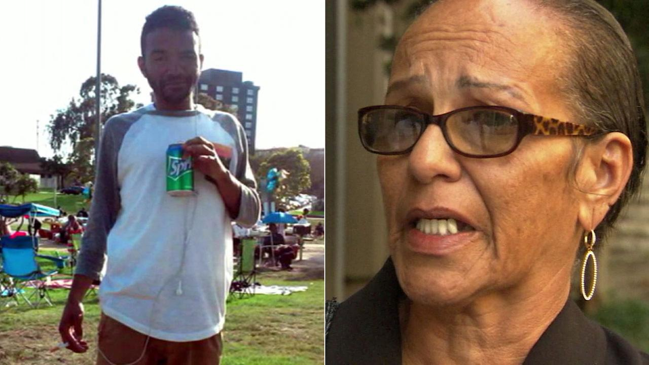 Jennifer Rivers, right, speaks to Eyewitness News about the shooting death of her son, Tavin Price, left.