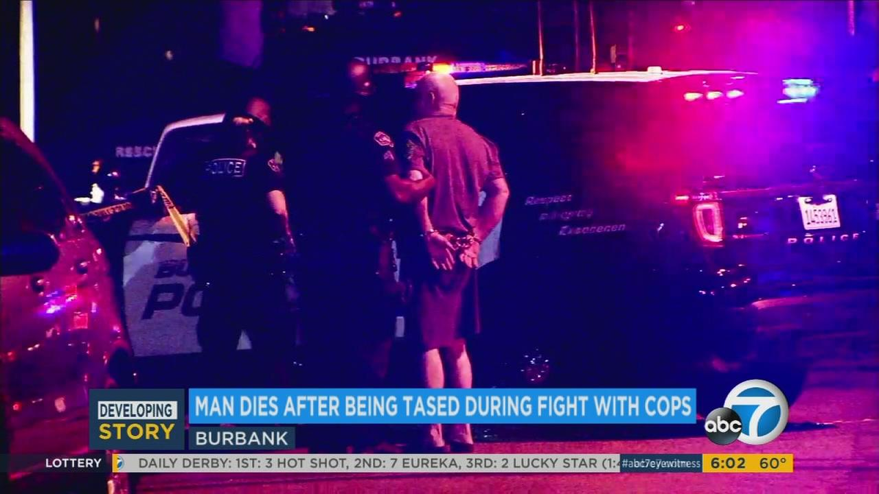 A man was arrested after allegedly threatening Burbank police officers while armed with a gun on Tuesday, Oct. 4, 2016.