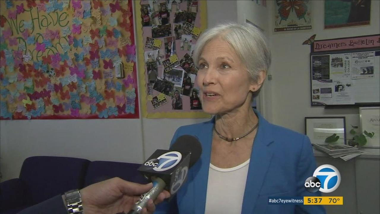 Jill Stein, the Green Partys candidate for president, campaigned at Cal State Los Angeles on Wednesday.
