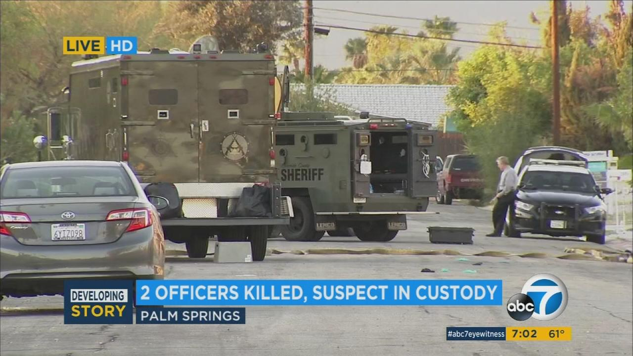 Authorities identified the suspect in the fatal shooting of two Palm Springs officers as John Felix.